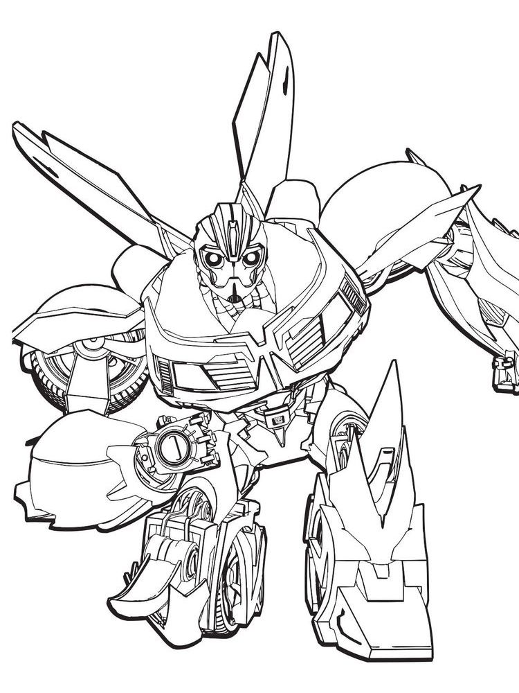 Transformers 018 Bee Coloring Pages Transformers Coloring Pages