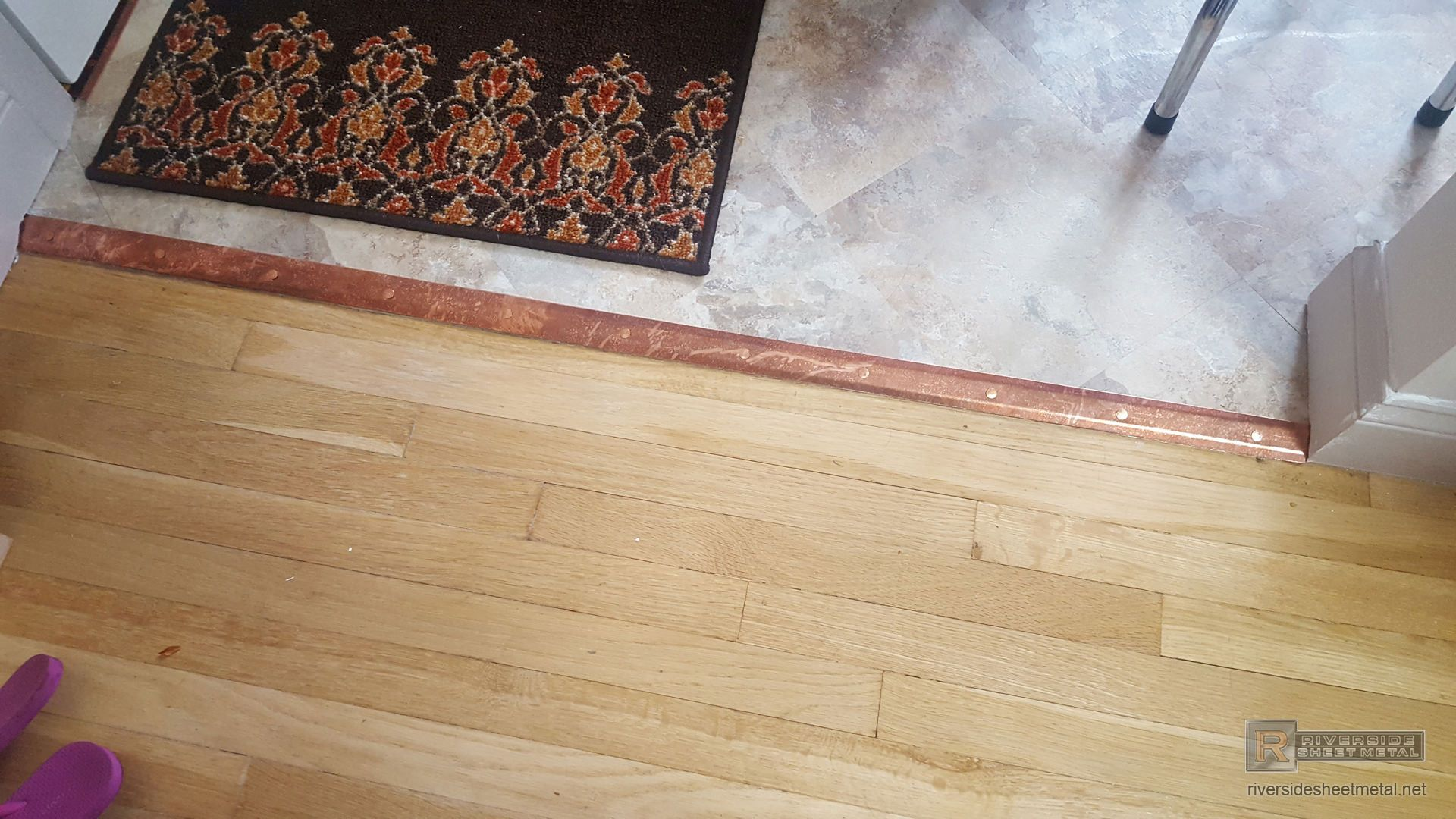 Custom Copper Threshold Transition Piece For Floor Transition Flooring Sheet Metal Fabrication Flooring