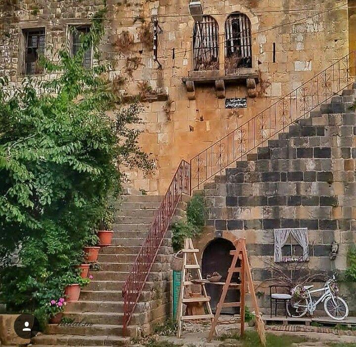 من البيوت القديمة في حاصبيا Old Houses House Styles Stairs