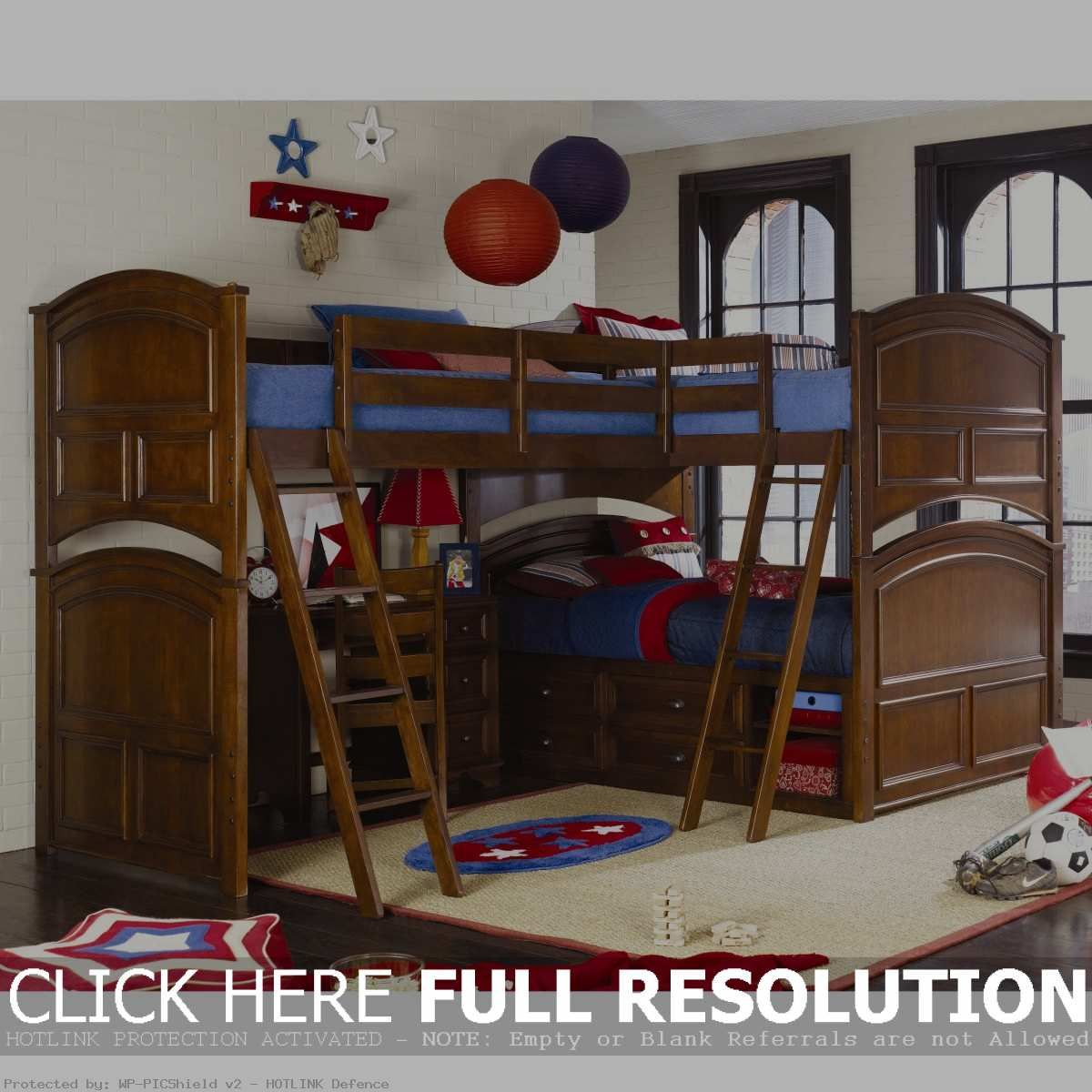 Loft bed with stairs diy  DIY Triple Bunk Beds Ideas  Kids Bunk Beds  Pinterest  Triple