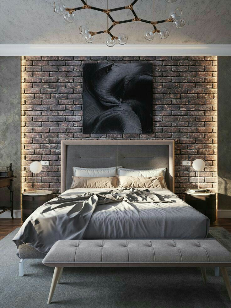 Best Brick Wall In Bedroom Decor Modern Bedroom Boy Bedroom 640 x 480