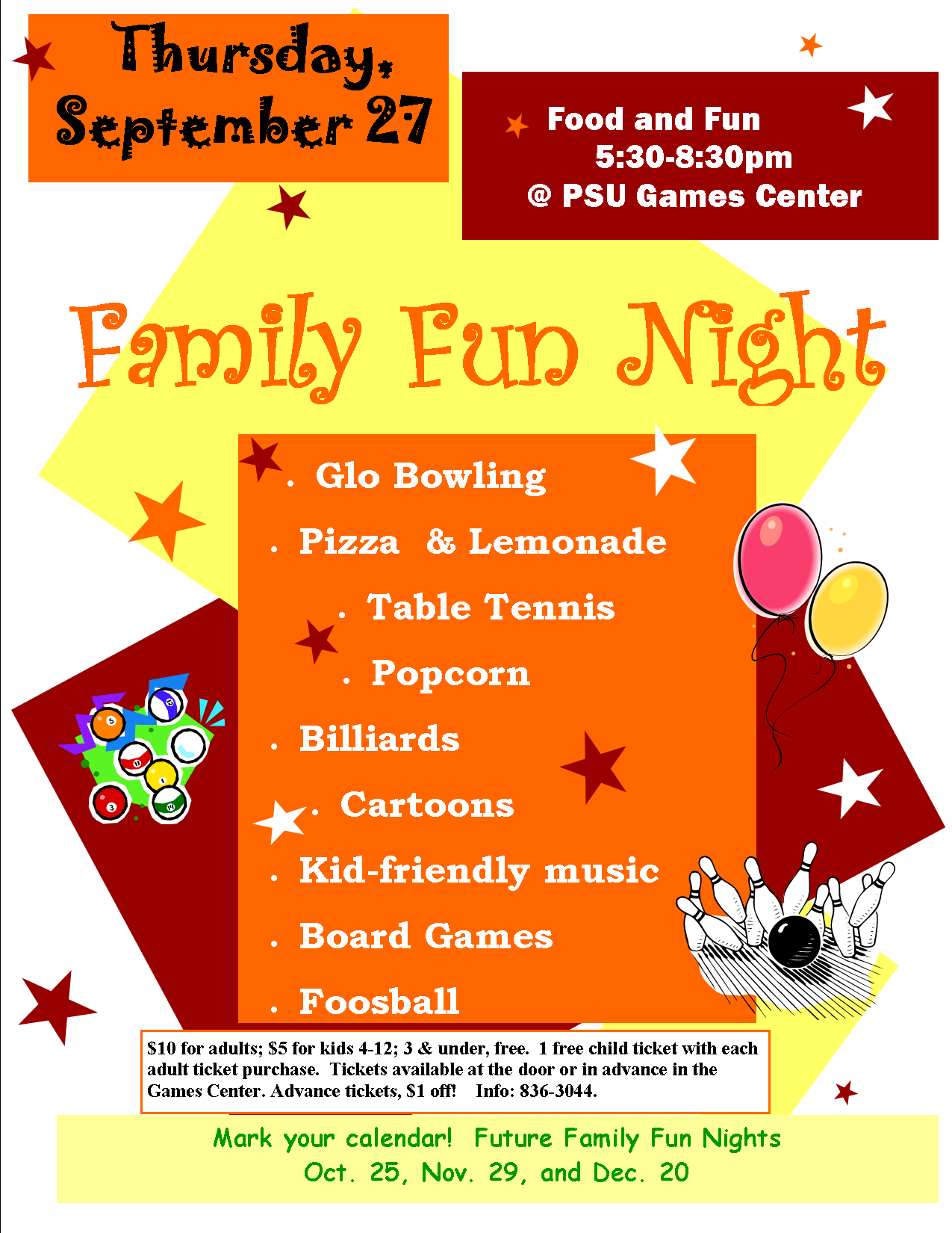 family fun night flyer template koni polycode co