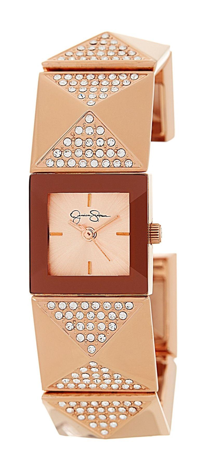 Looks like a cute bracelet! Jessica Simpson Pave Pyramid Stud Watch | HauteLook