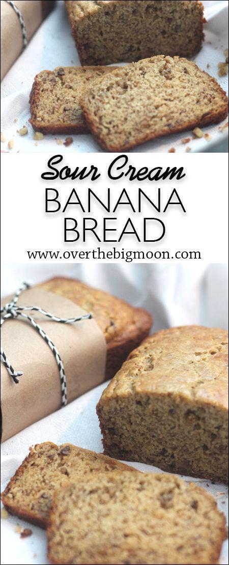 Sour Cream Banana Bread Sour Cream Banana Bread Sour Cream Recipes Banana Bread Recipe Easy Moist