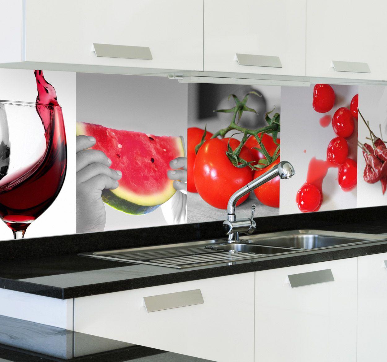 Vinilo decorativo alimentos rojos proyectos que intentar pinterest alimentos rojo y cocinas - Cocinas con vinilo ...