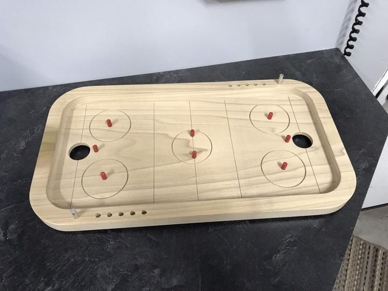 Penny Hockey Game Board In 2020 Board Games Homemade Board Games Star Wars Party Games