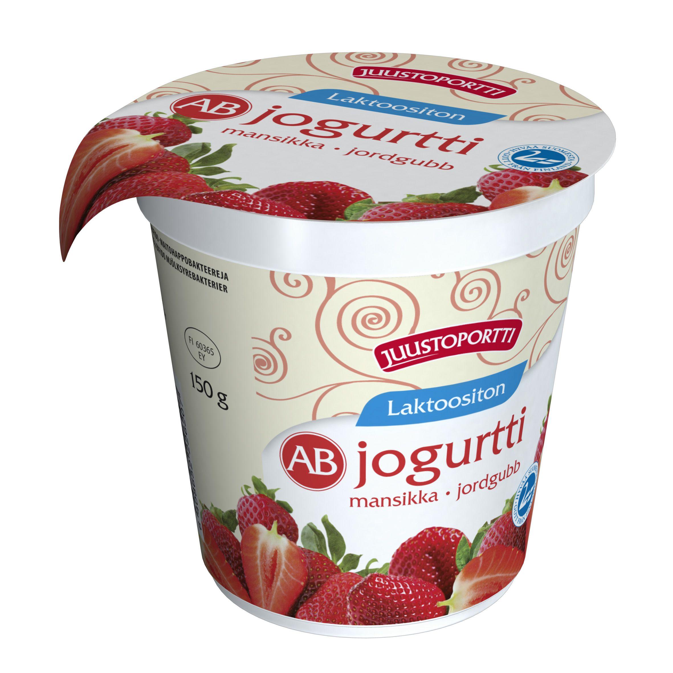Laktoositon ab-jogurtti Mansikka 150g
