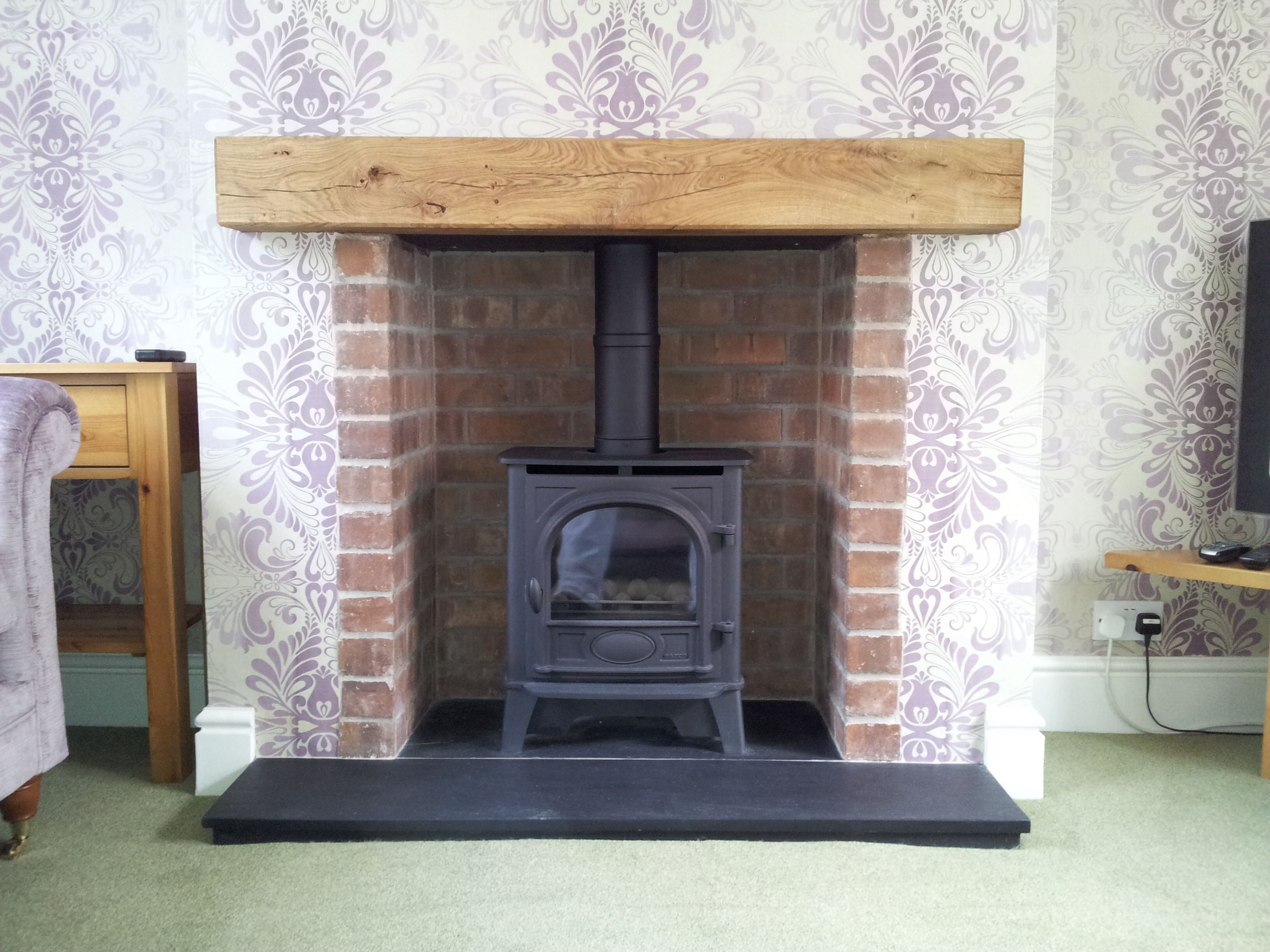 This Is A Stovax Stockton 5 Stove Shown Into A Brick Slip Chamber