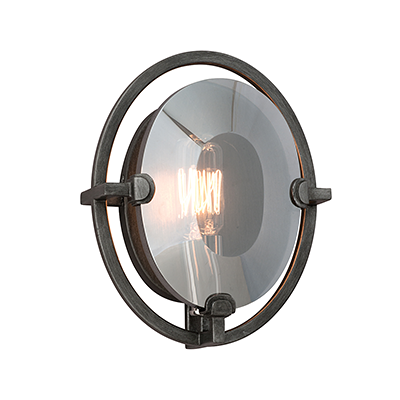 Create An Ambience Of Charming Elegance In Your Residence By Installing  This Reasonable Troy Lighting Prism Graphite Wall Sconce.