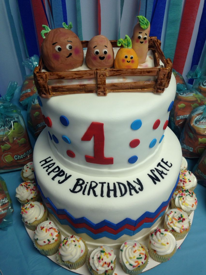 Incredible Small Potatoes Birthday Cake With Images Party Cakes Cake Personalised Birthday Cards Paralily Jamesorg