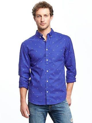 d2d3ddc5834 Slim-Fit Soft-Washed Classic Shirt For Men