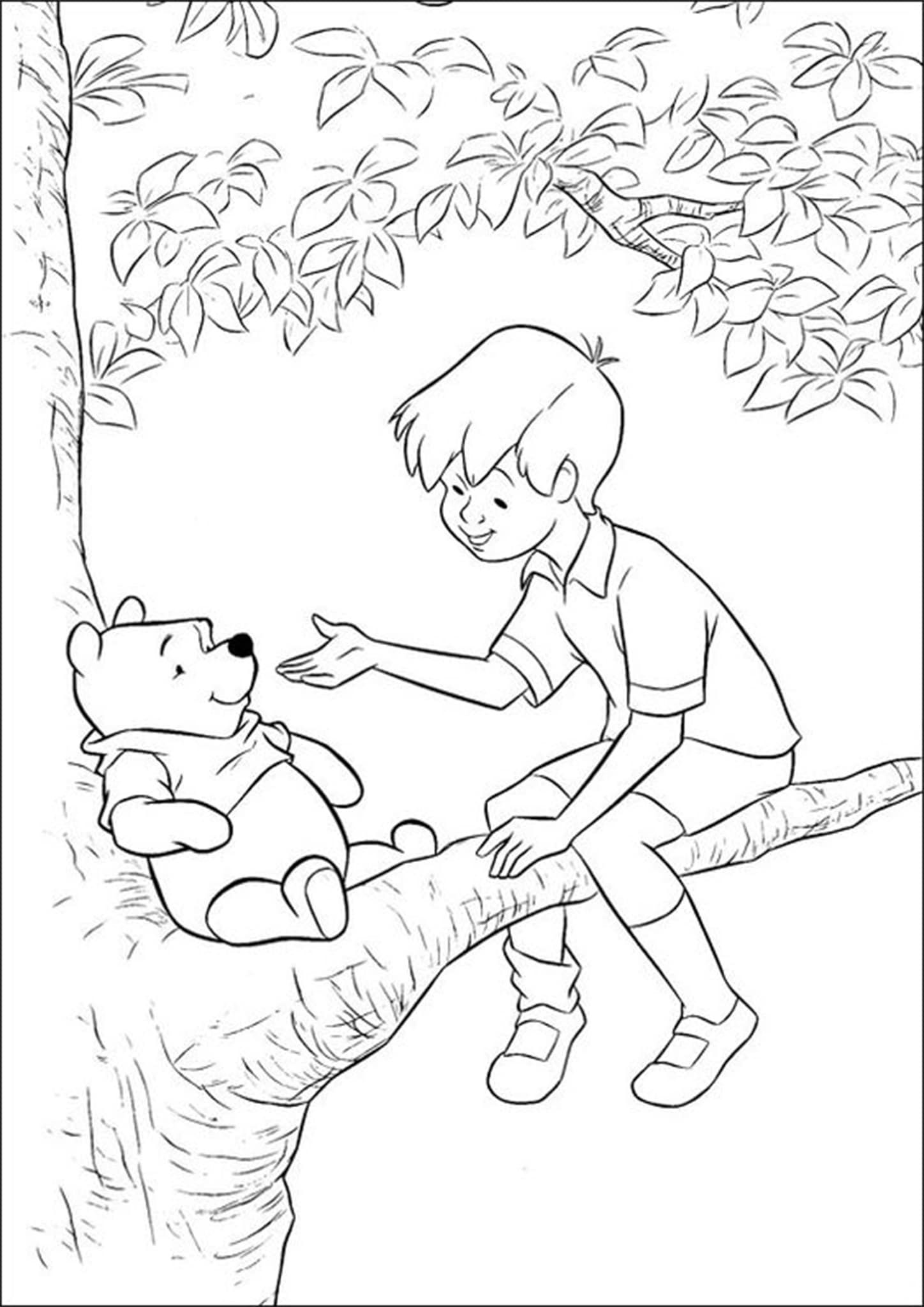 Free Easy To Print Winnie The Pooh Coloring Pages Cartoon Coloring Pages Disney Coloring Pages Bear Coloring Pages