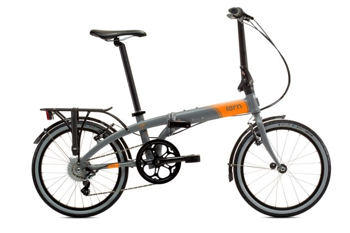 Link D8 Grey Orange Tern Folding Bicycles Folding Bike