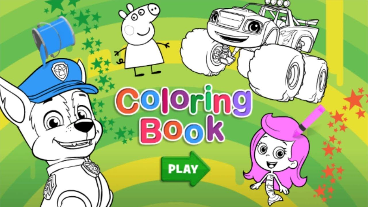 NICK Jr - Coloring Book | GAMES CHANNEL for ALL FAMILY | Pinterest