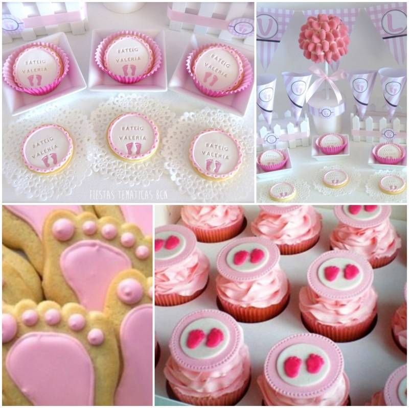 Decoracion de baby shower de huellitas baby shower - Baby shower decoracion ...