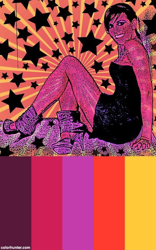 Pink Pumpkincat210 Pop Art Stars And Funkiness Color Scheme