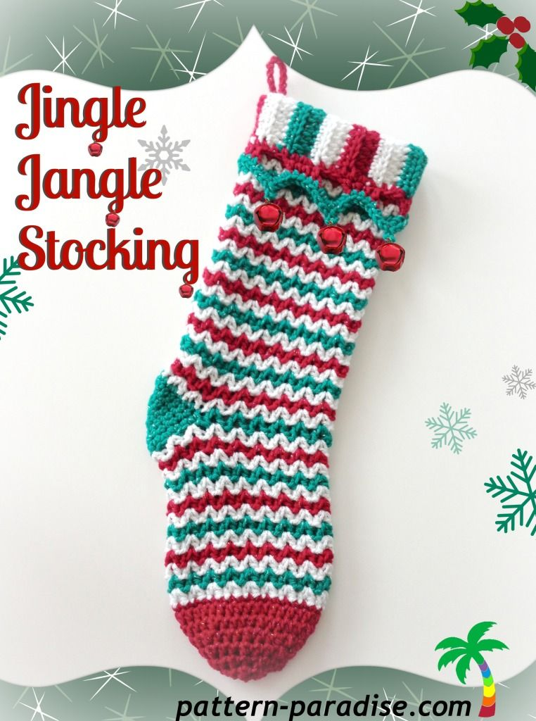 Jingle Jangle - love the pattern for this #christmas stocking by ...