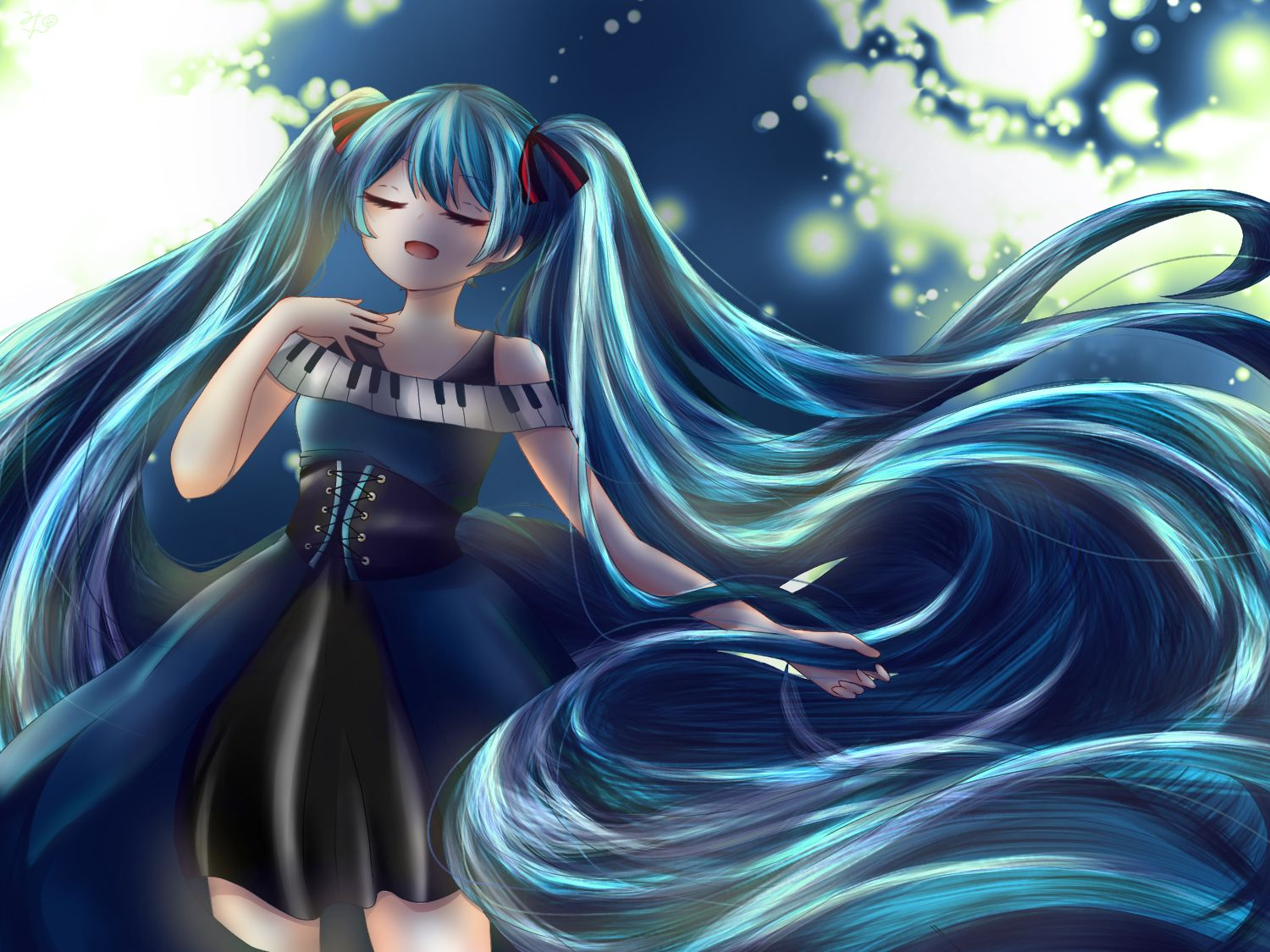 Long Flowing Hair Vocaloid In 2020 Aurora Sleeping Beauty Anime Disney Princess