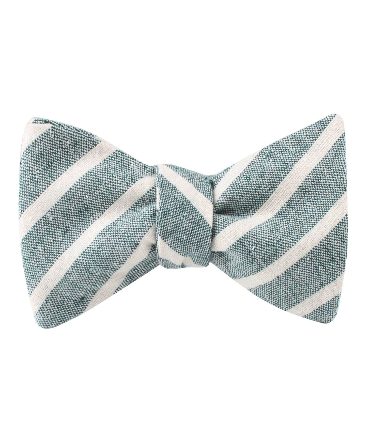 3e845d5a187a Konya Chalk Stripe Green Linen Self Bow Tie | Men's Tuxedo Suit Bow Ties  UnTied for