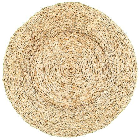 LR Home Table Top Natural Jute Circlet Placemats (15 inch