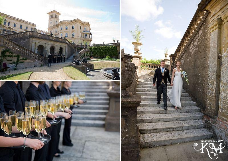 Osborne House Wedding Bride And Groom Arrive