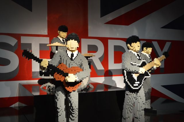 The Art Of The Brick: Lego Spectacular At Old Truman Brewery, London. The Fab Four have us grasping for Lego Beatles puns. I Want To Build Your Hand? Norwegian Plastic? Brick-it to Ride? We'll stop there.