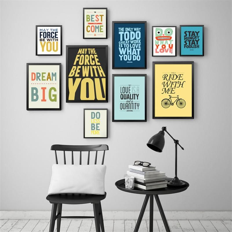 Modern Office Inspiritional English Culture Quotes Canvas