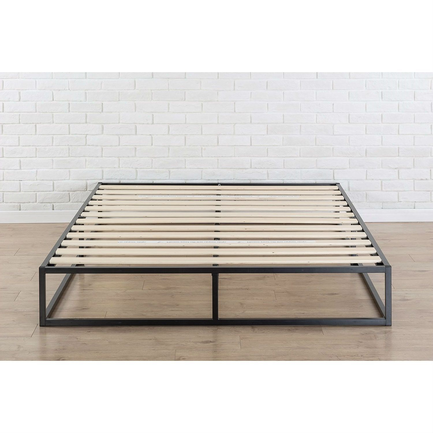 Best Queen Size Modern 10 Inch Low Profile Metal Platform Bed 640 x 480