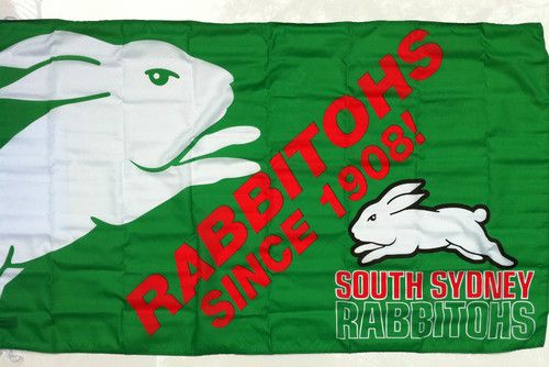 South Sydney Rabbitohs Large Flag 90 X 150cm 34 95 Sydney National Rugby League South