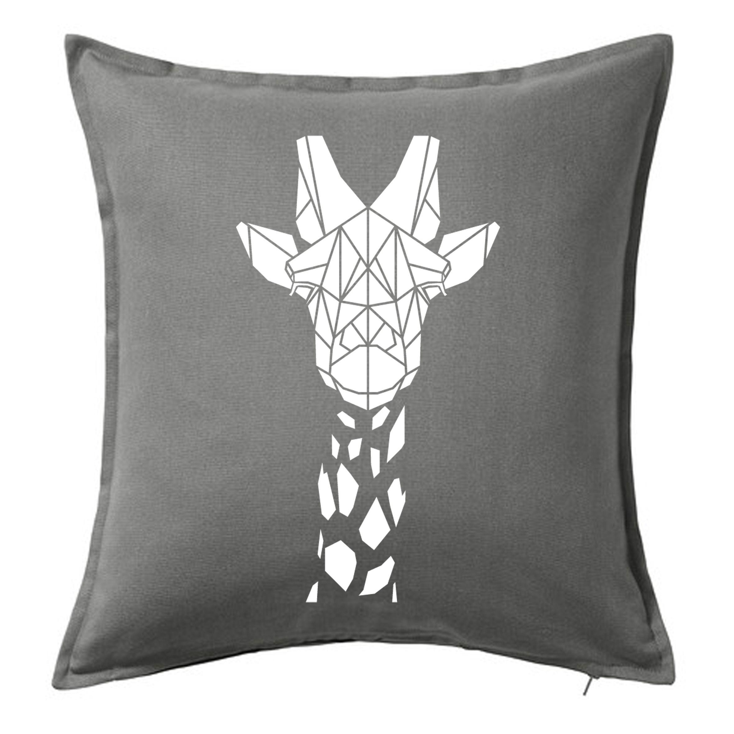 Stencilize Animal Print Cushion Cover Geometric Giraffe Print