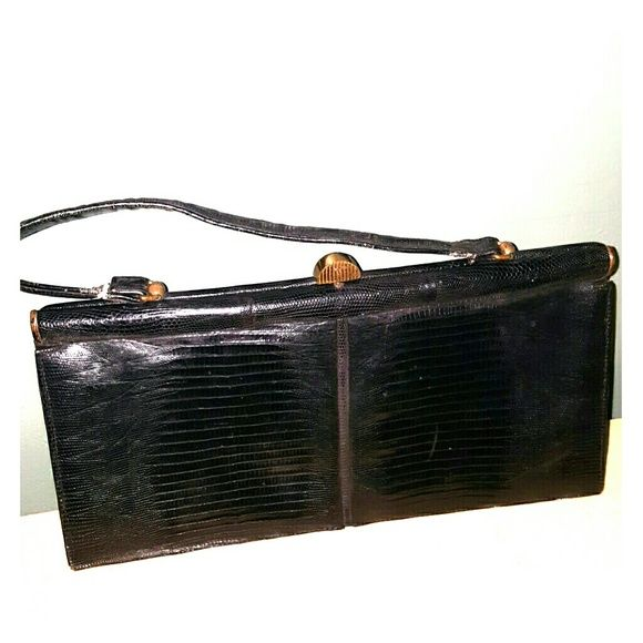 Vintage clutch closure leather  purse Leather Vintage clutch closure purse palizzio Bags Satchels