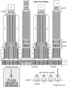 Empire State Building Paper Model - FREE Paper Toys and