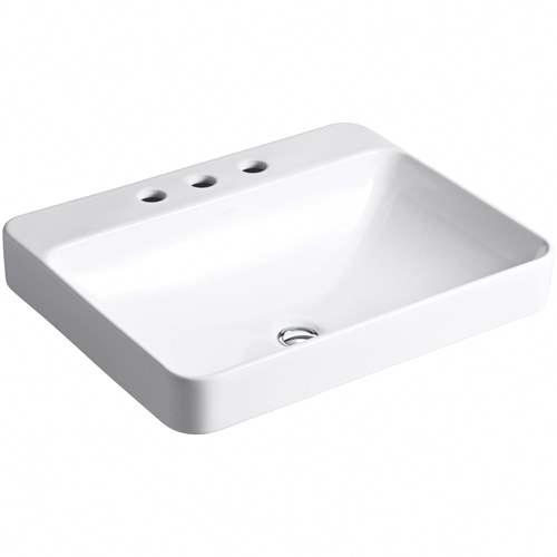Kohler Vox Vessel Porcelain Bathroom Sink K 2660 8 0 White In 2020 Sink Bathroom Sink Units