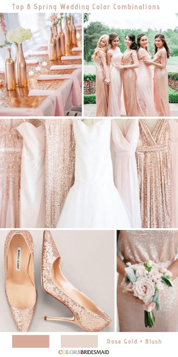 Pin On Blush Rose Gold Ivory Glitter Gold Wedding Theme
