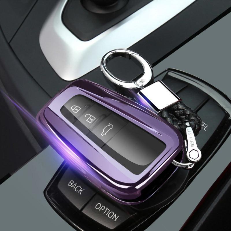 Car Key Fob Cover Case for Toyota CHR C-HR Camry Prius Prado