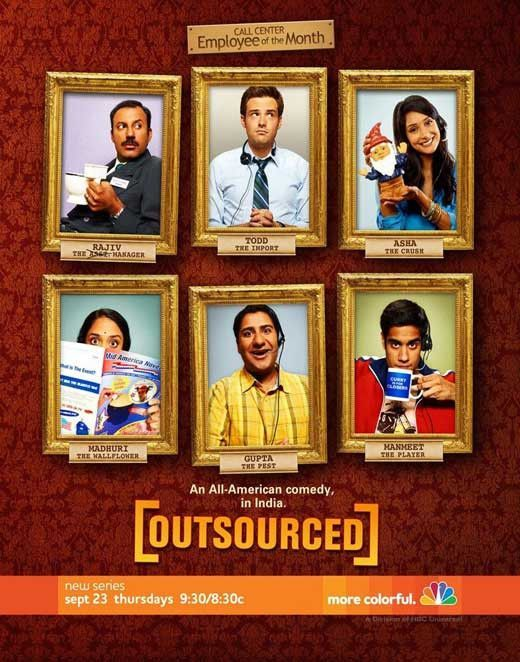 outsourced 11x17 tv poster 2010 in 2018 tv pinterest tvs tv