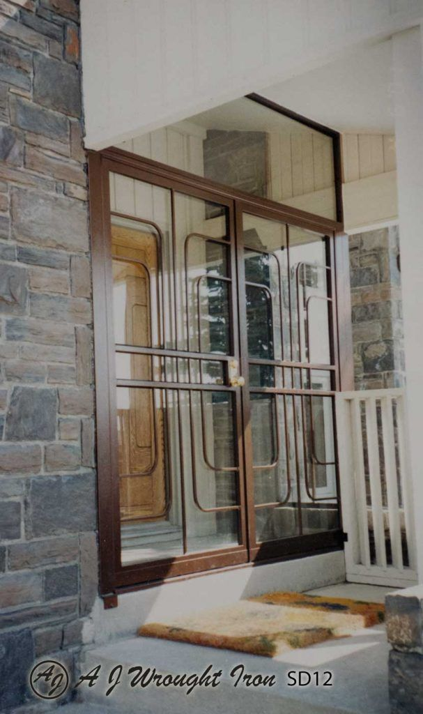Stay Safe In Calgary With Window Bars Security Doors One Of Our Specialties Is Creating Security Doors And Grills For Commerc Security Door Window Bars Doors