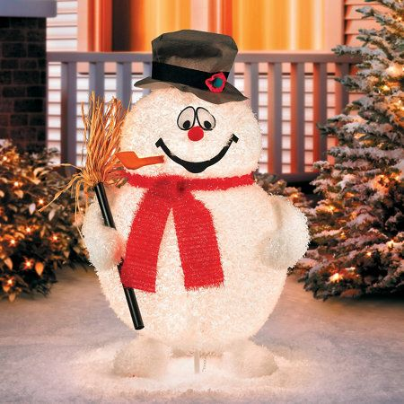 You don\u0027t need to worry about a magic hat for this Frosty; he comes - outdoor snowman christmas decorations