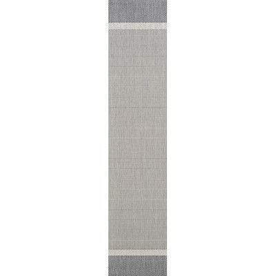 "Bay Isle Home Karakum Texture Gray Indoor/Outdoor Area Rug Rug Size: Runner 2'3"" x 7'10"""
