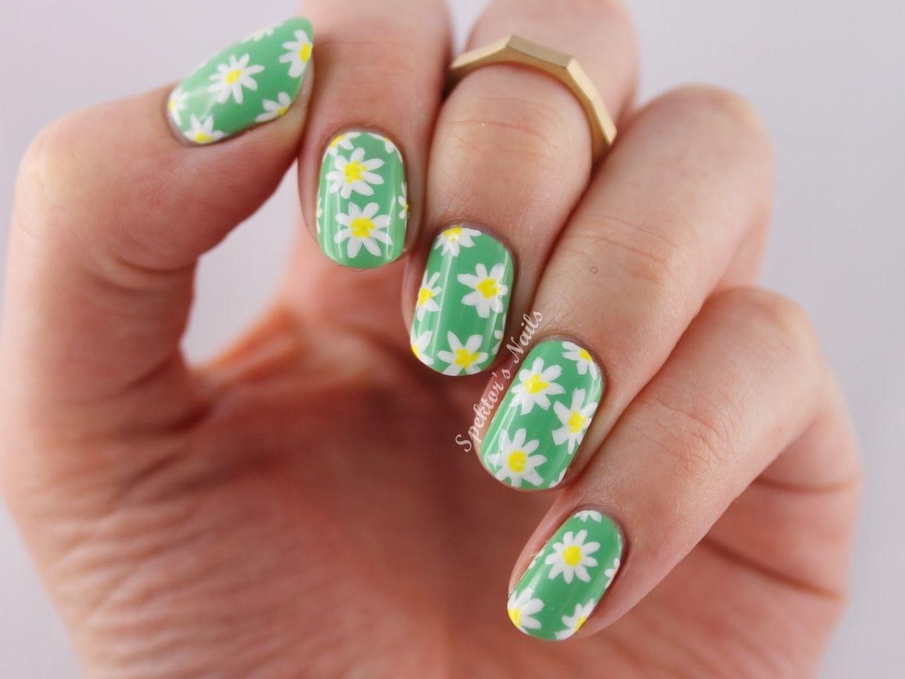 Daily nails nails daisies daisy nail art diy nails nail ideas nail ...