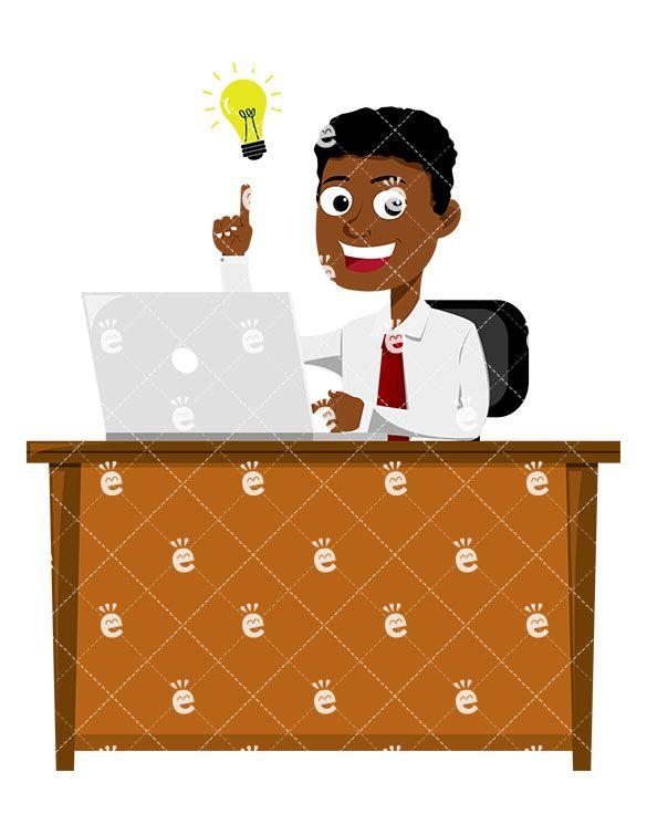 Office Royalty Free Vector Clip Art Illustration - Working Hard At Desk -  Free Transparent PNG Download - PNGkey