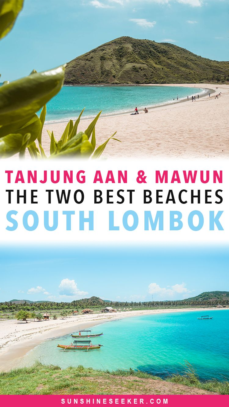 Pantai Tanjung Aan and Mawun - The two best beaches in south Lombok, Indonesia. Click through to learn how to get to Tanjung Aan and Mawun Beach and what to expect. South Lombok is truly a dream beach destination. Escape the crowded beaches in Bali and go to Lombok!