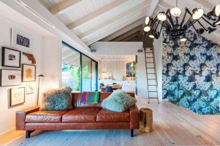 d co salon moderne pour une atmosph re chaleureuse id es maison pinterest. Black Bedroom Furniture Sets. Home Design Ideas