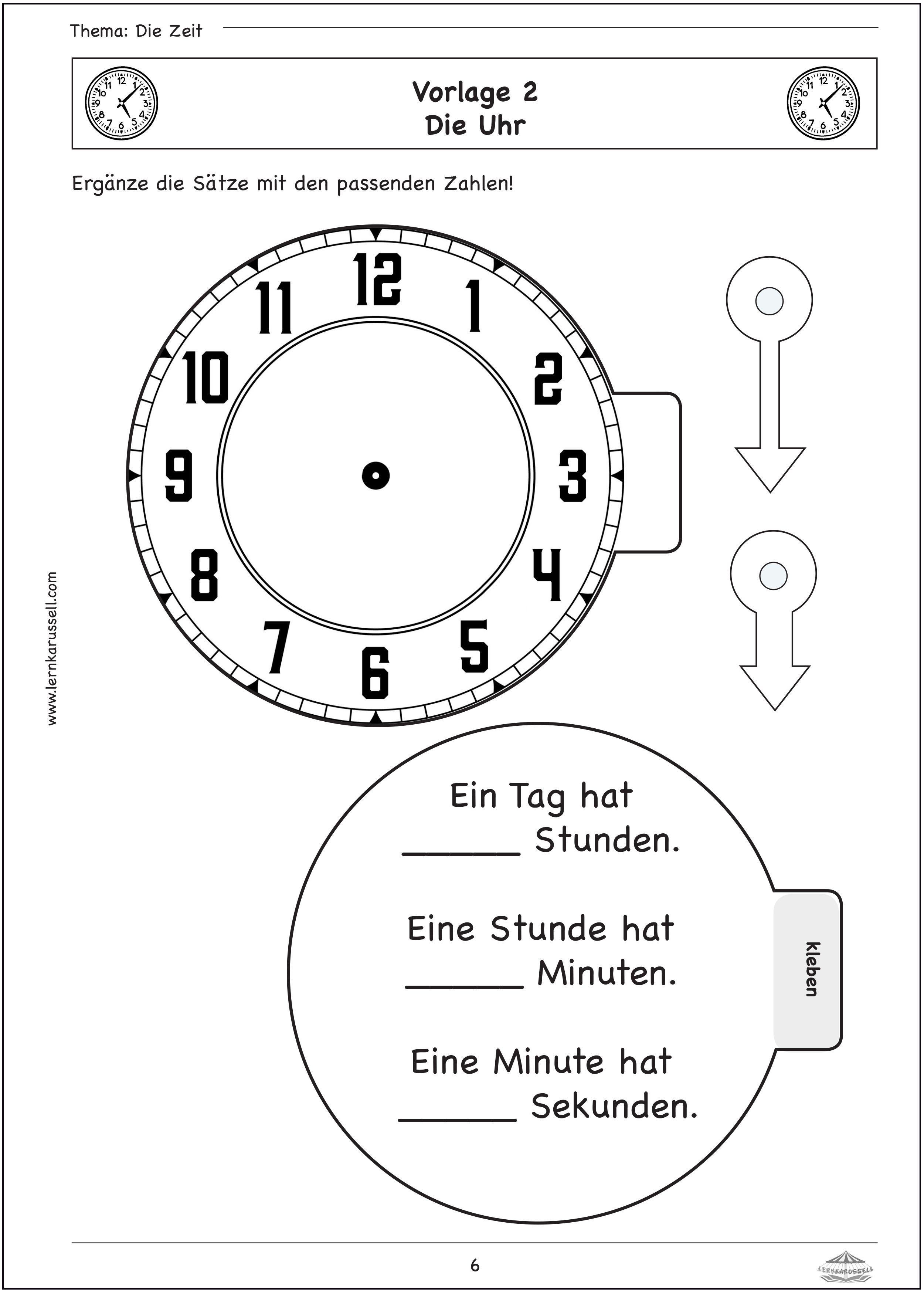 Lapbook Vorlagen Zeit   Lapbook vorlagen, Lernheft, Vorlagen