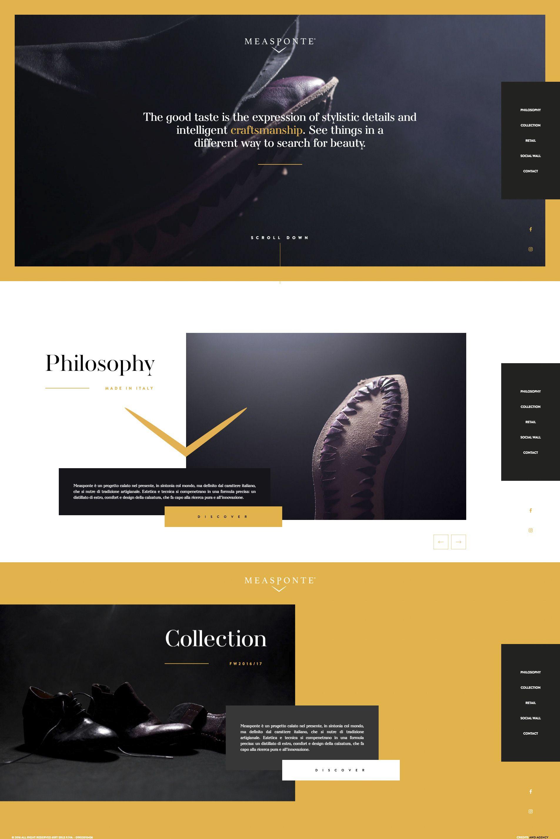 Http Www Measponte It Web Design College Inspiration Design