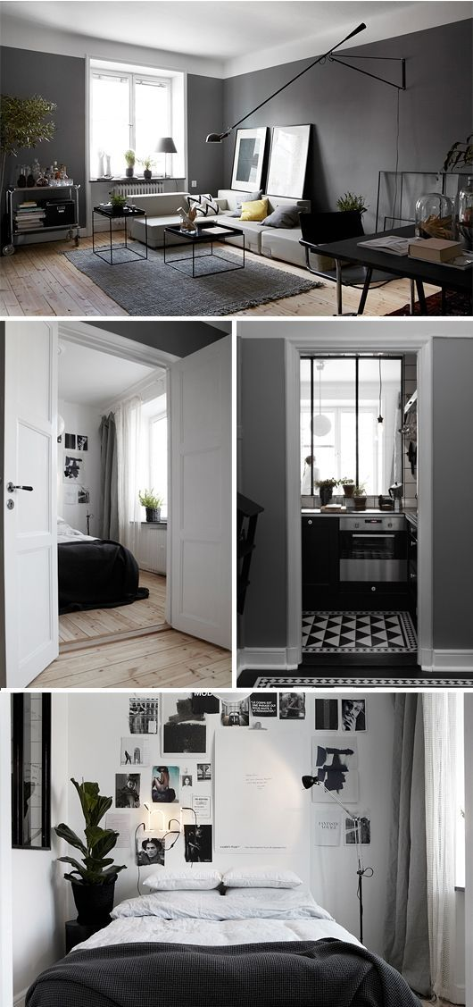 Trendenser - Home Floors Kitchen, Grey and Wall Beds Crib - industrial chic wohnzimmer