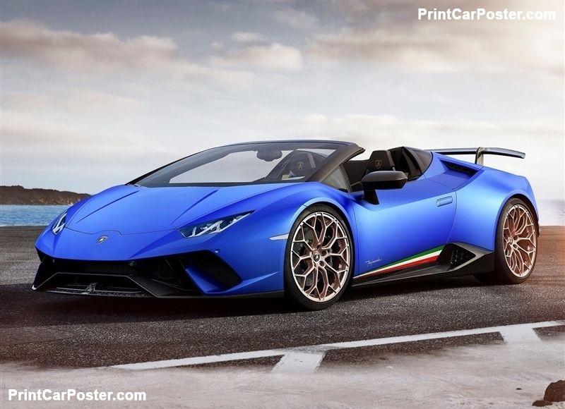 Lamborghini Huracan Performante Spyder 2019 Poster Art In Motion