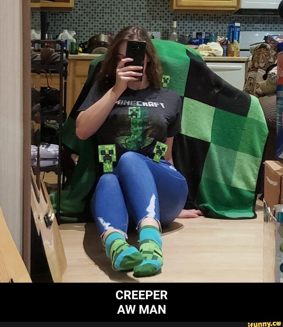CREEPER AW MAN - CREEPER AW MAN - iFunny :)   Funny cute ...