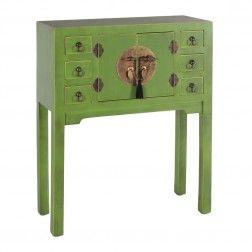 Mueble chino consola verde 2 puertas muebles chinos y orientales en tu tienda - Muebles orientales madrid ...