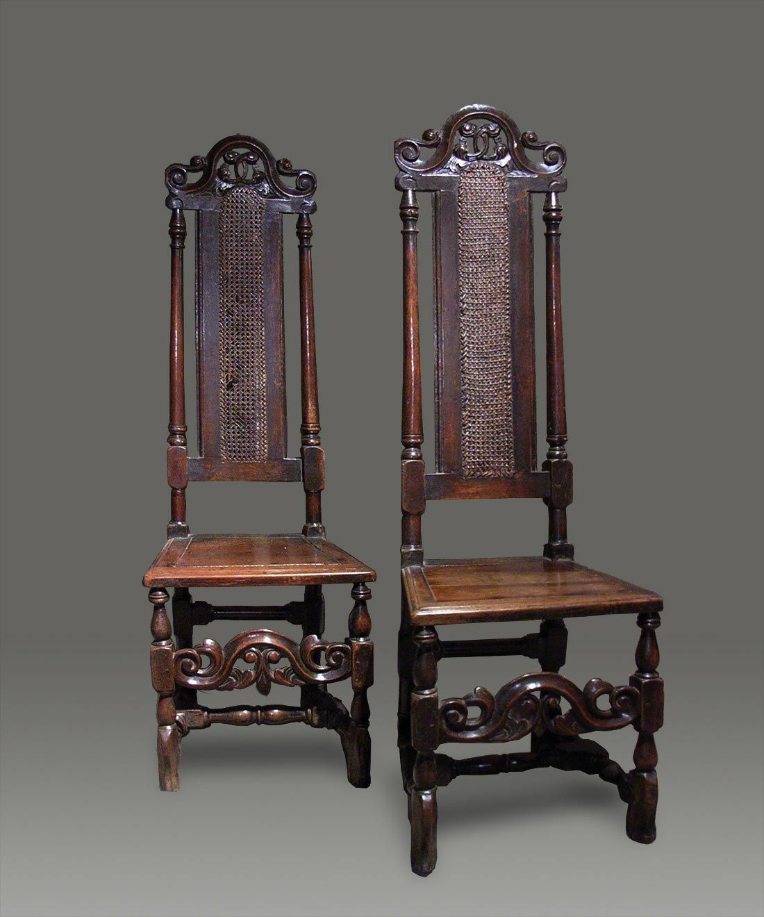 Antique Cane Chairs High Back Carved Crests - Antique Chair Types Place Pointer Over Main Image For Zoom Sit